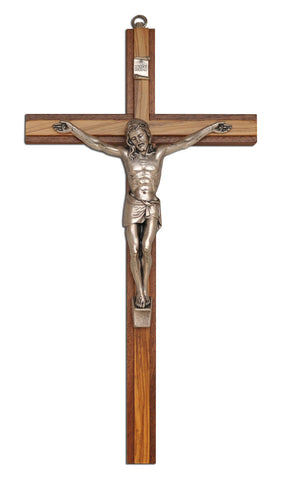 Crucifix Tutone Oak Wood - Catholic Shoppe USA