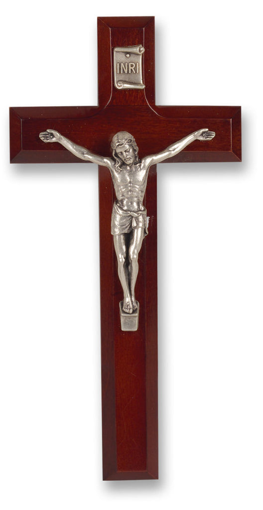 Dark Cherry Wood Crucifix - Catholic Shoppe USA