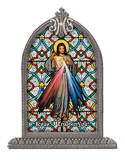 Divine Mercy Italian Art in Arched Frame - Catholic Shoppe USA