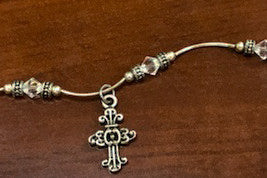Cross with Swarovski crystals bracelet - Catholic Shoppe USA