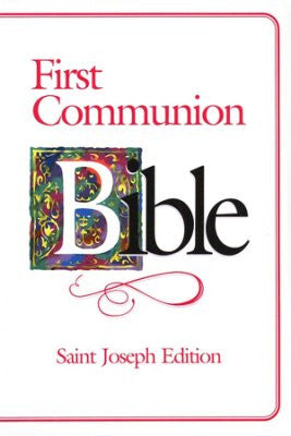 First Communion Bible - Saint Joseph Edition - Girl - Catholic Shoppe USA
