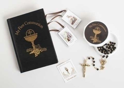 First Communion Boys 5 pc Set - Catholic Shoppe USA