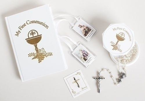 First Communion Girls 5 pc Set - Catholic Shoppe USA