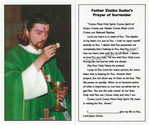 Father Sudac Prayer Card - Catholic Shoppe USA