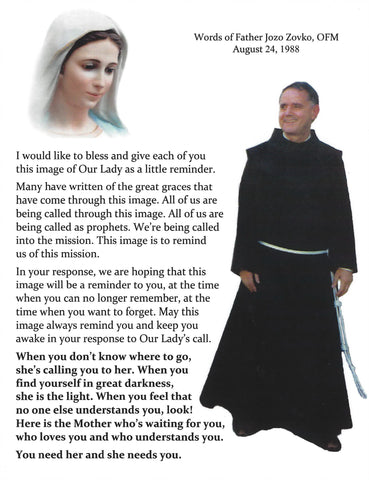 Father Jozo Prayer Card