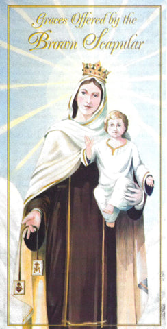 Graces Offered by the Brown Scapular Pamphlet