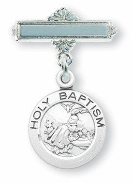 Sterling Silver Holy Baptism Pin - Catholic Shoppe USA