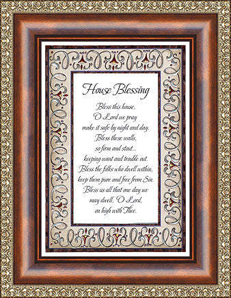 House Blessing Framed - Catholic Shoppe USA