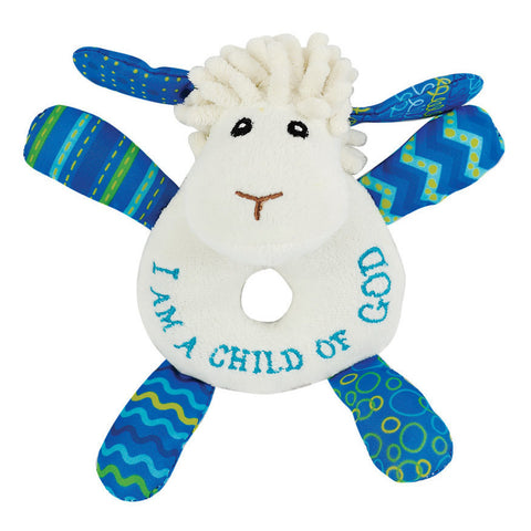 """I am a child of God"" Little Lamb Rattle"