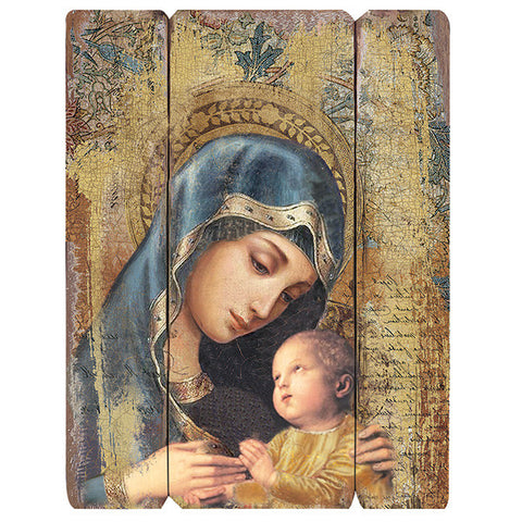 Madonna and Divine Child Decorative Panel - Catholic Shoppe USA