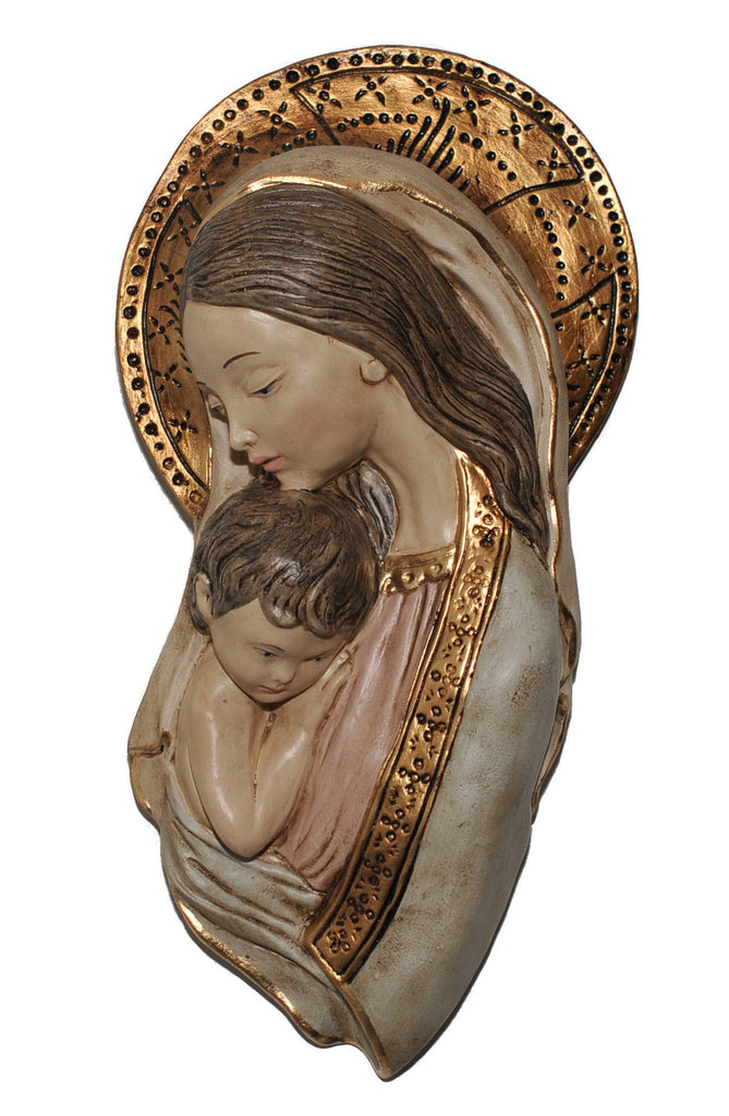 Madonna and Child Wall Plaque - Catholic Shoppe USA