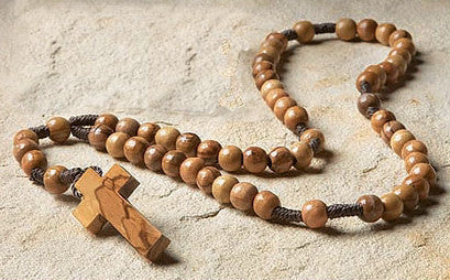 Olive Wood Cord Rosary - Catholic Shoppe USA