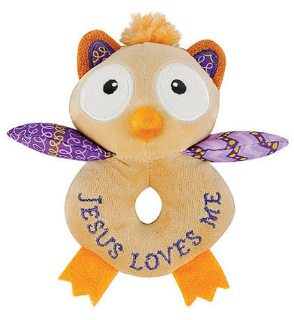 Wee Blessings - Opal the Owlet Rattle - Catholic Shoppe USA