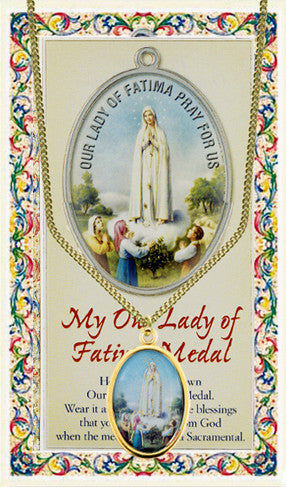 Our Lady of Fatima Medal with Chain