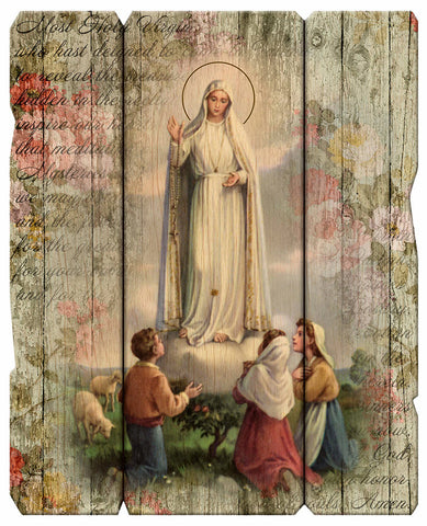 Our Lady of Fatima Plaque - Catholic Shoppe USA