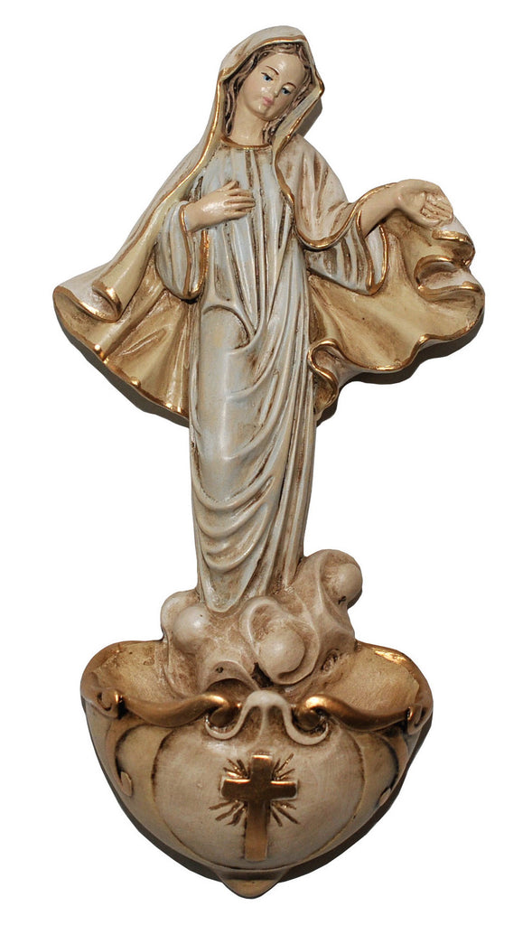 Our Lady of Medjugorje Holy Water Font - Catholic Shoppe USA