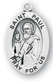Sterling Silver Patron Saint Medals - Male Saints - Catholic Shoppe USA - 29