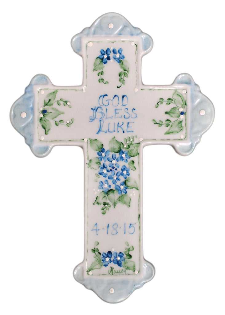 Personalized Baptism Cross for Boy - Catholic Shoppe USA