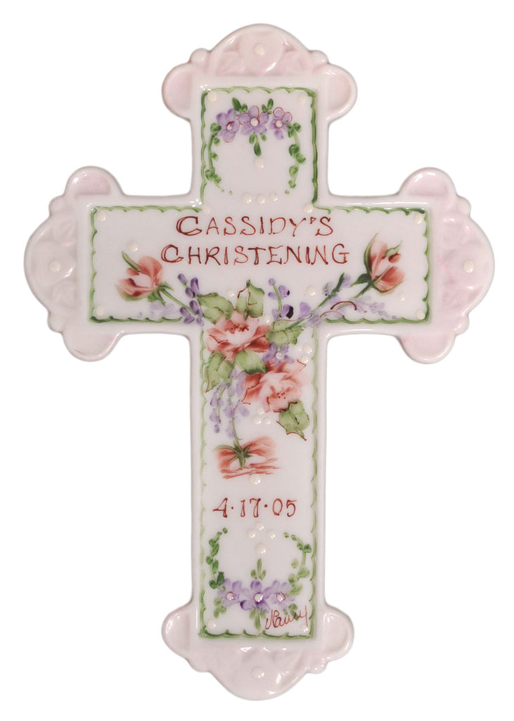 Personalized Baptism Cross for Girl - Catholic Shoppe USA