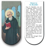 magnetic bookmark Prayer to St Benedict