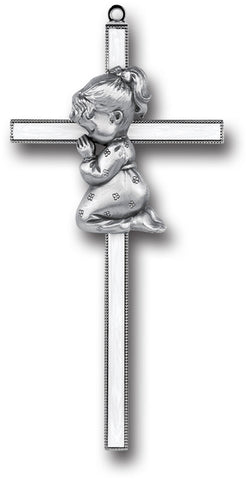 Praying Girl Cross - Catholic Shoppe USA