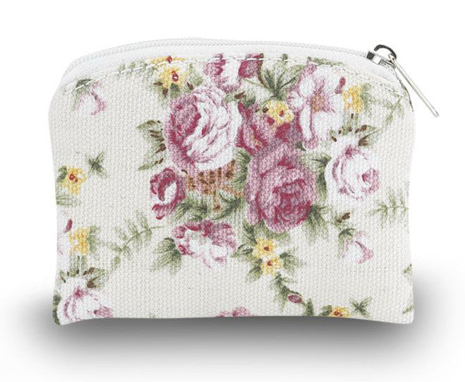 Rosary Pouch Floral - Catholic Shoppe USA