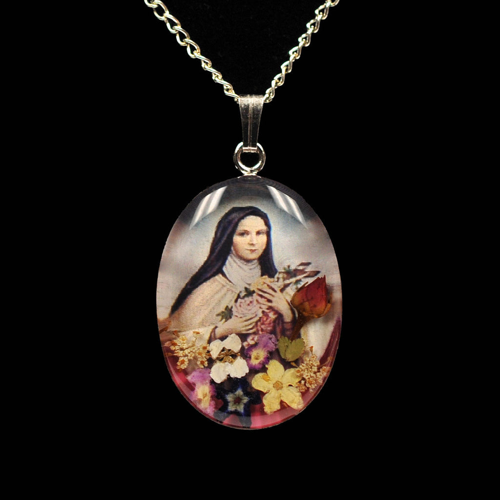 St. Thérèse of Lisieux Rose Pendant - Catholic Shoppe USA