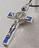 Crucifix Medal of St. Benedict in Brown, Blue or Red - Catholic Shoppe USA - 3