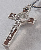 Crucifix Medal of St. Benedict in Brown, Blue or Red - Catholic Shoppe USA - 2