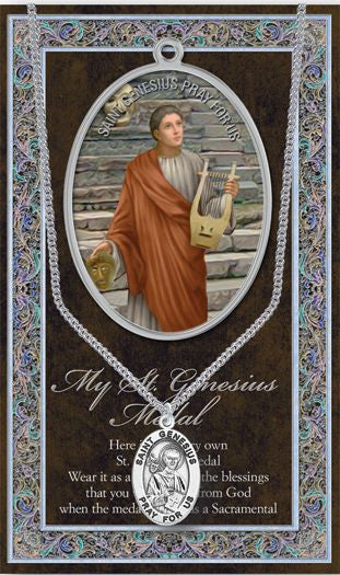 St. Genesius Medal - Catholic Shoppe USA