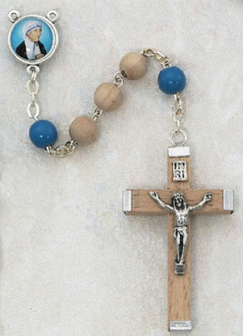 Mother Teresa of Calcutta Wood Rosary - Catholic Shoppe USA