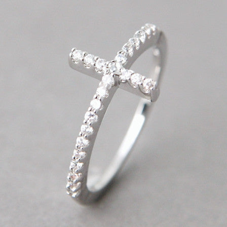 Sideway Cross Ring - Catholic Shoppe USA