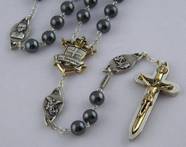 The Warrior's Rosary Hematite - Catholic Shoppe USA - 1