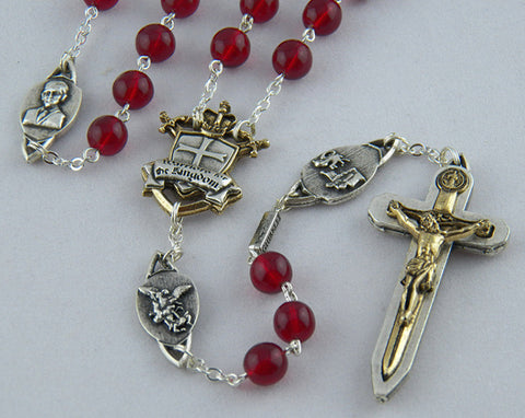 The Warrior's Rosary Red Agate - Catholic Shoppe USA - 1