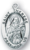 Sterling Silver Patron Saint Medals - Female Saints - Catholic Shoppe USA - 52