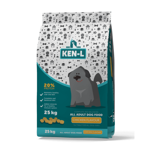 Ken-L Adult Chicken-Flavoured Dog Food - 25KG Pet Food Ken-L - 4aPet
