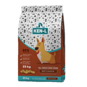 Ken-L Adult Beef-Flavoured Dog Food - 25Kg