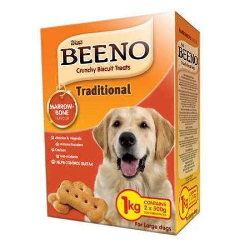 Beeno Large Marrowbone Dog Biscuits - 1KG Pet Treats Beeno - 4aPet