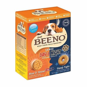 Beeno Small Biscuits DUO Bacon/Egg & Honey/Chamomile Flavour - 1KG Pet Treats Beeno - 4aPet