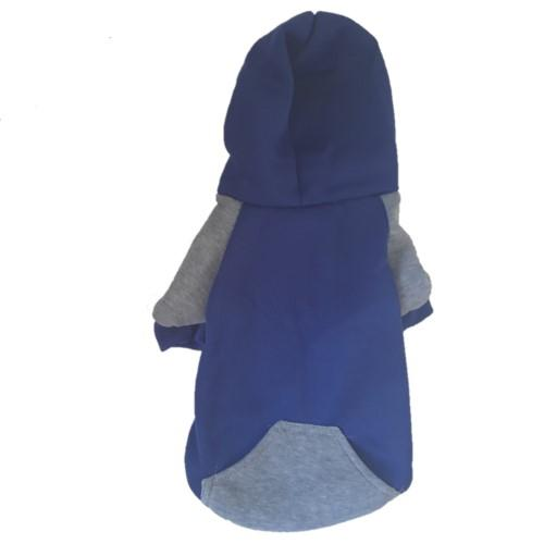 Dog Coat/Jacket - Blue with pockets