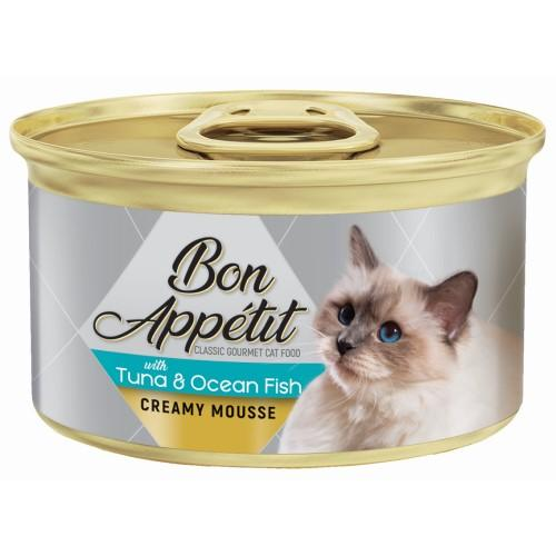 Bon Appetit Creamy Mousse With Tuna & Ocean Fish - 85g