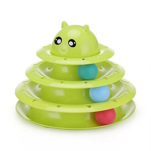 Circular Turntable Cat Toy - Green
