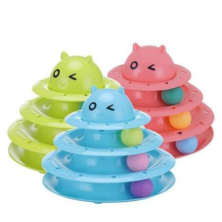 Circular Turntable Cat Toy - Assorted Colours