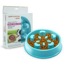 Happy Hunting Slow Feeder Pet Bowl - Assorted Colours