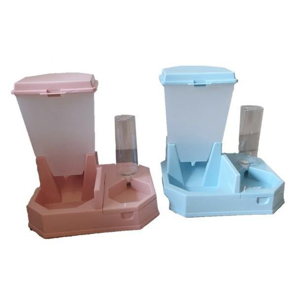 Large Double Automatic Pet Feeding Bowl with Water Dispensers