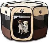 Foldable Portable Pet Playpen - Large. With 2 dogs.