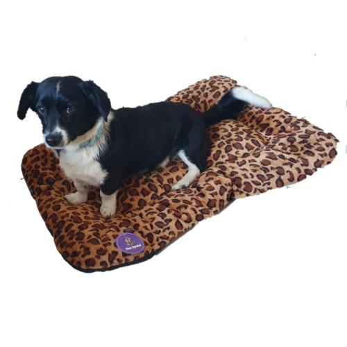 Leopard Print Pet Bed - Large