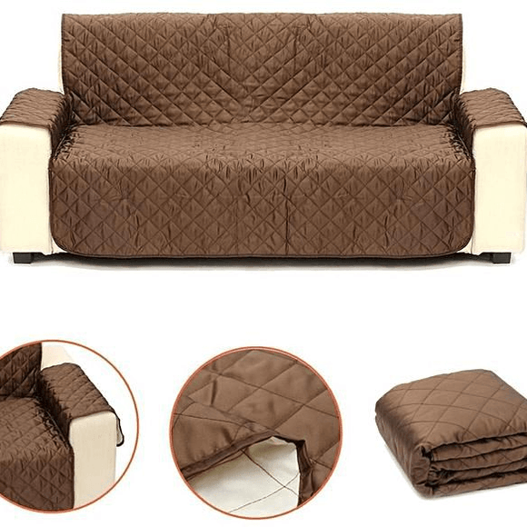 2-Seater Pet Couch Cover - Brown