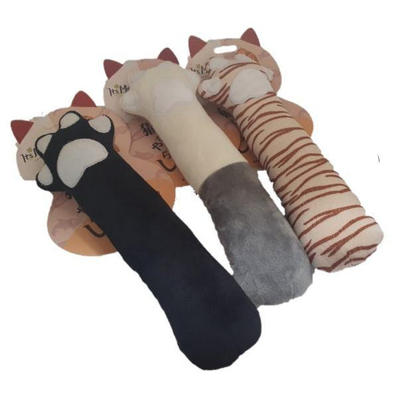 Plush Cat Paw Toy for Pets - Assorted Colours