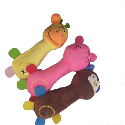 Plush Pet Toy - Assorted Colours